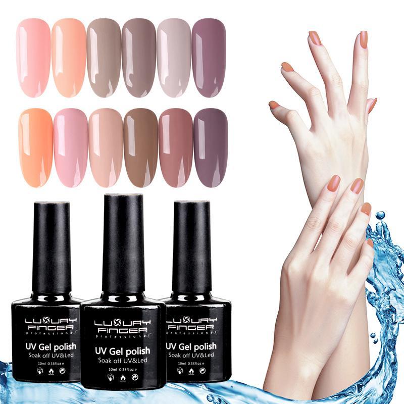 Luxury Finger Uv Gel Nail Polish Varnish Long Lasting Soak Off Uv