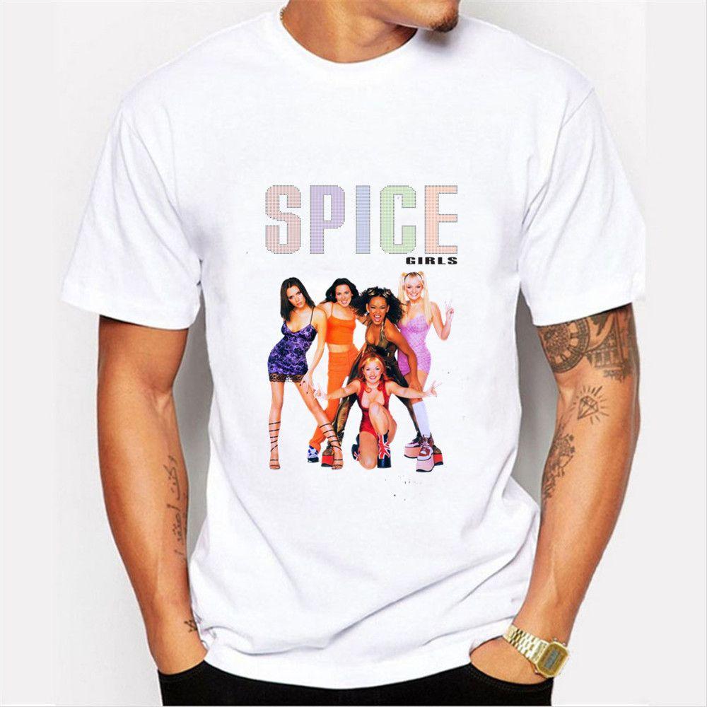 f504dfad79dfa0 Spice Girls Men T Shirts Cotton Design Geek 2018 Tshirt Crossfit Bts  Skateboard Baseball Jersey 3d Kanye West Camisa Masculina Best T Shirts  Sites Quirky T ...