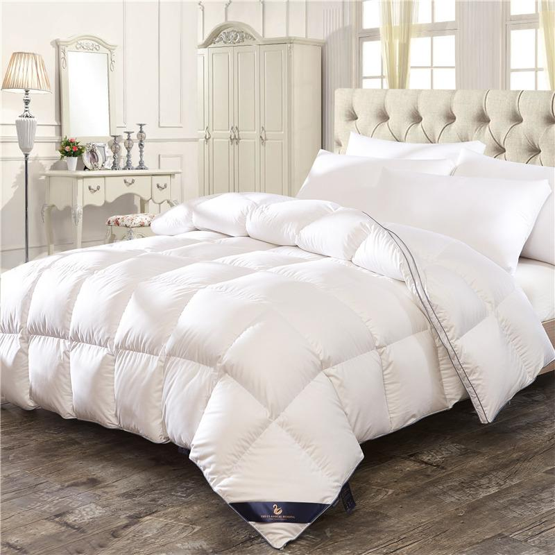 9ed56599855 White Pink 100% Feather Velvet Down Winter Thick Duvet Comforter Bedding  Twin Queen King Size Quilt For Winter Autumn Summer Teenage Bedspreads  Vintage ...