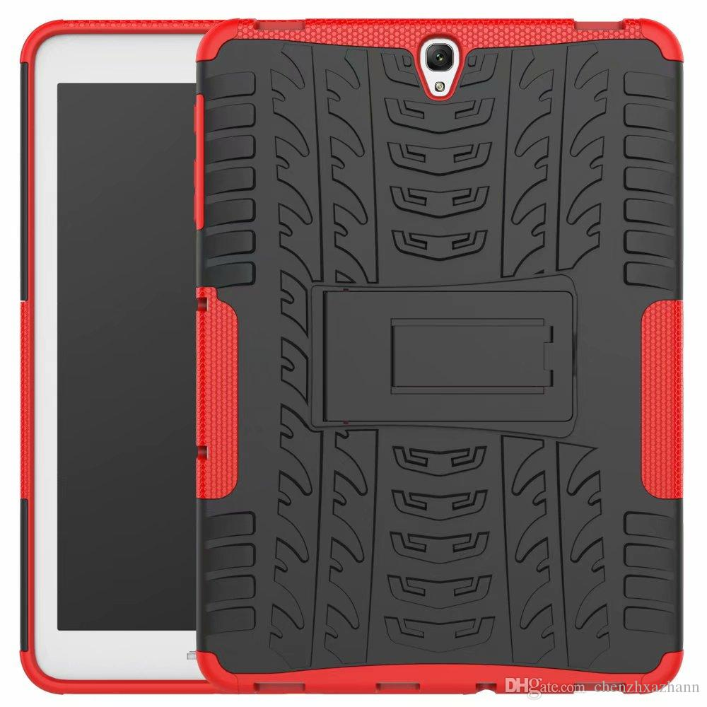reputable site bb7fe 4030a Case for Samsung Galaxy Tab S2 9.7 SM T810 T815 T813 T819 Heavy Duty Armor  Tire Style Hybrid TPU PC Hard Cover tablet pen