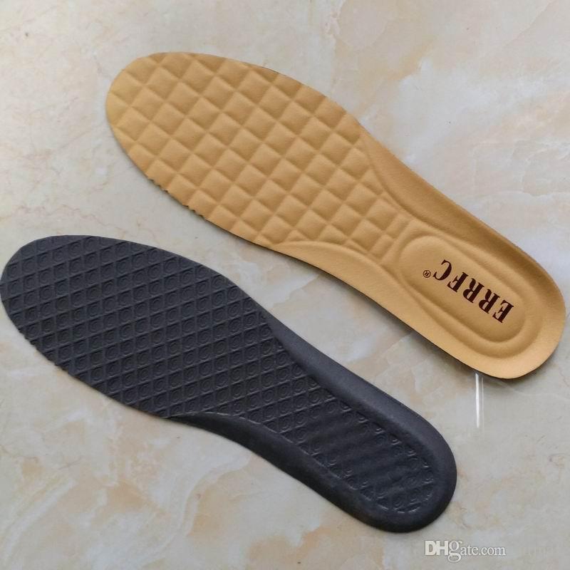 Neue Ankunft EVA Cut Schuhe Einlegesohlen Größe 44 Schwarz Braun Gelb Farbe Männer Schuhe Sohlen 285mm
