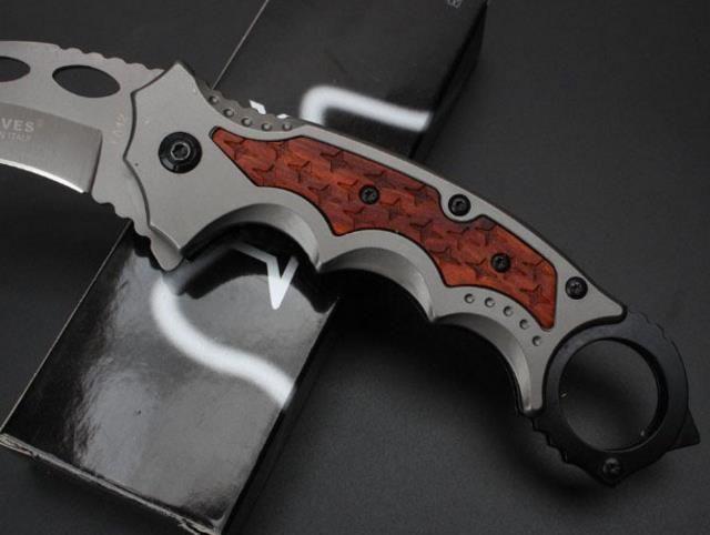 5Cr15Mov Karambits Small Claw knife Boar Mini Folding Blade Aluminum Handle Camping Knives Outdoor survival knife Portable pocket knives