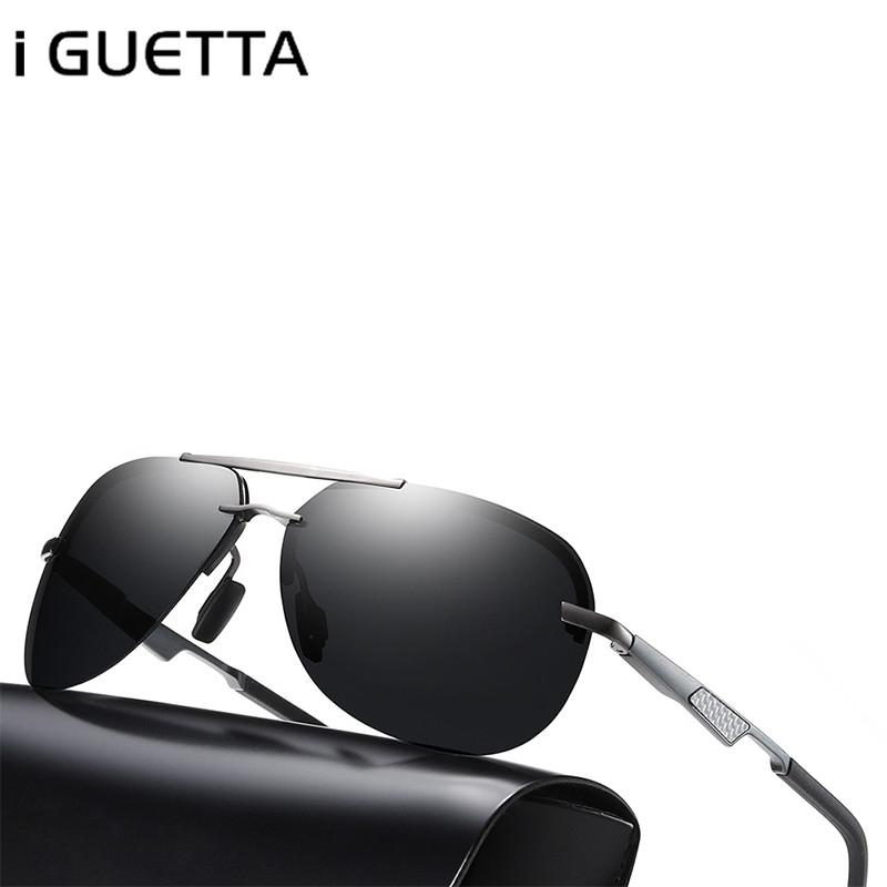 Compre Eu GUETTA Óculos De Sol Dos Homens Polarizados Design Vintage Óculos  Homem Moda Clara 2018 Liga De Alumínio Magnésio Quadro Óculos De Luxo De ... 1d032303c4