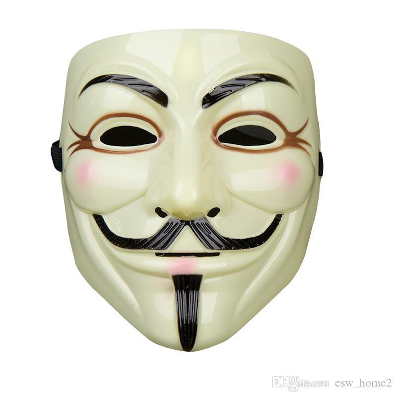 1 stücke Heißer Verkauf Party Masken V für Vendetta Maske Anonymous Guy Fawkes Fancy Kleid Erwachsene Kostüm Zubehör Party Cosplay masken