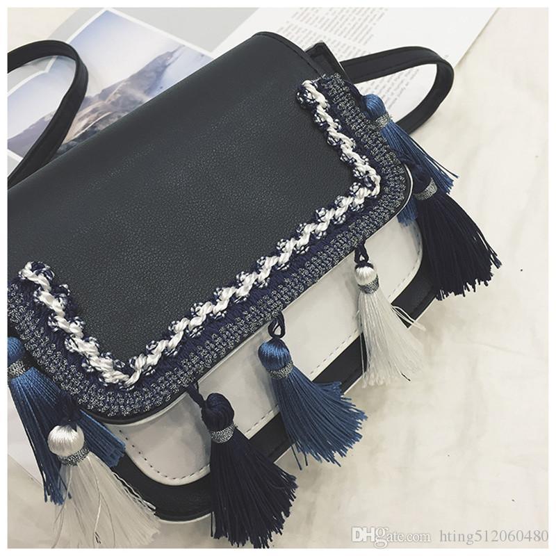 4134e80fd8 New Women PU Leather Tassel Bag Handbag Crossbody Bag Lady Shoulder ...