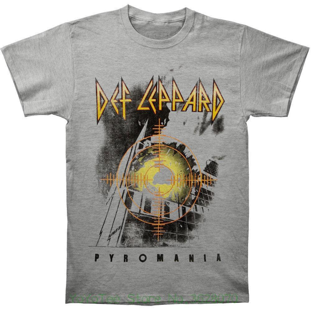 d00f00fef4d Men Clothing Plus Size S M L Xl Xxl Def Leppard Men  S Target Pyromania T  Shirt Grey Latest T Shirts Design Best T Shirts Design From Lijian034