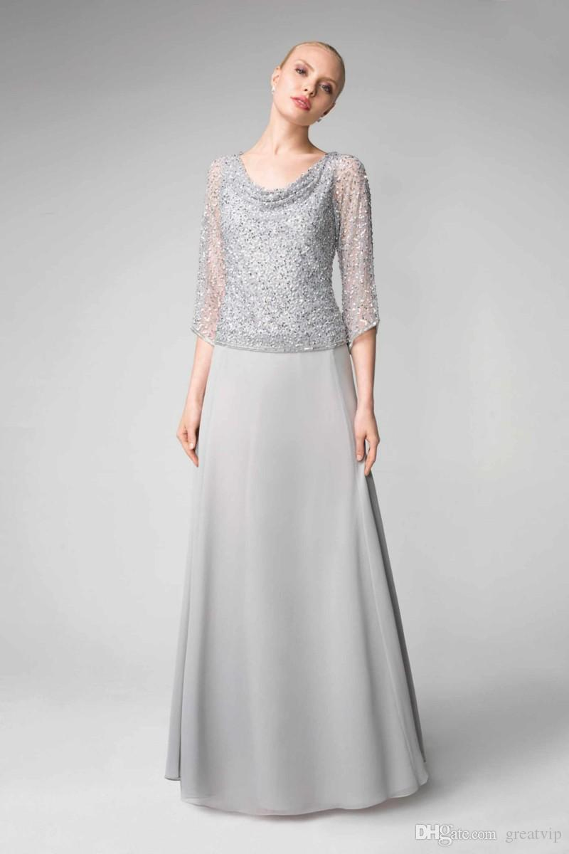 399421c1fc4f0 Mother Of The Bride Dresses Wedding Lace Sequins Long Sleeve Mothers Formal  Wear Dress Plus Size Evening Gowns Mother Of The Bride Dresses For Plus Size  ...