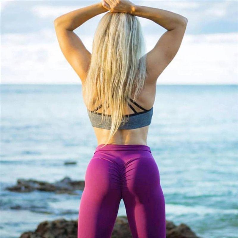 4198959dcec67 2019 Full Length Yoga Pants Sexy Buttom Women Elastic Waist Seamless Sport  Leggings Sport Fitness High Waist Sportswear For Women Gym From Ekuanfeng,  ...