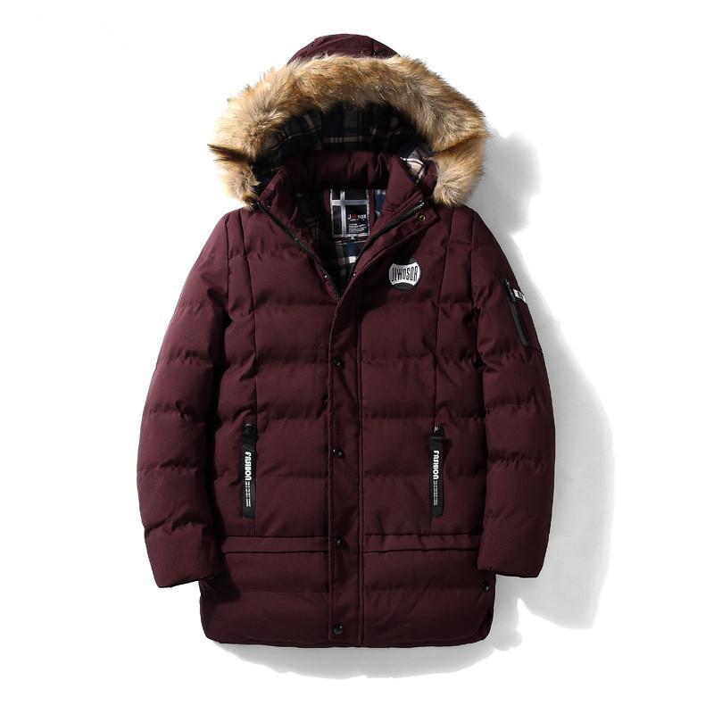 Acquista Abbigliamento Uomo 2018 Inverno Cappotti Lunghi Inverno Piumini  Con Cappuccio Spessore Warm Down Cotone Imbottito Parka Outwear Cappotto  Snow Tops ... 59d6c37615c