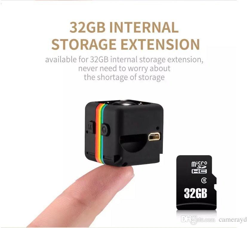 SQ11 Mini cámara HD 1080P Visión Nocturna Mini Videocámara Cámara de acción DV Video Grabadora de voz Micro Cámara incluye tarjeta de memoria de 32GB