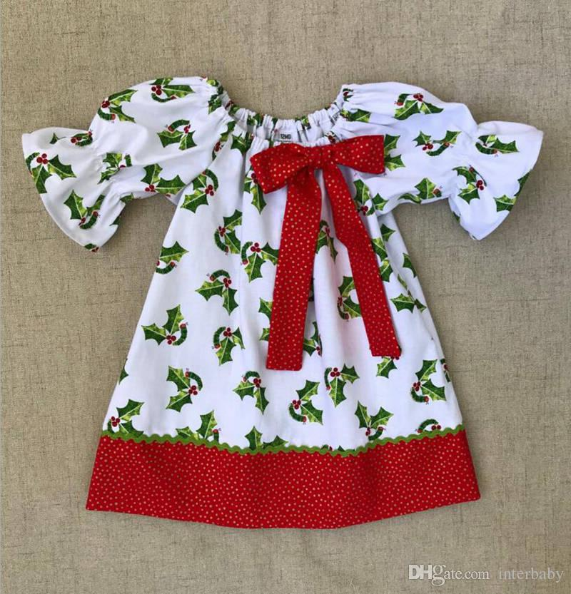 bd1371ee5bb Christmas Girls Dresses Caterpillars Print Baby Dresses Girls Tree Print  Princess Dress Toddler Sleeveless Dress Kids Designer Clothes YL466 UK 2019  From ...