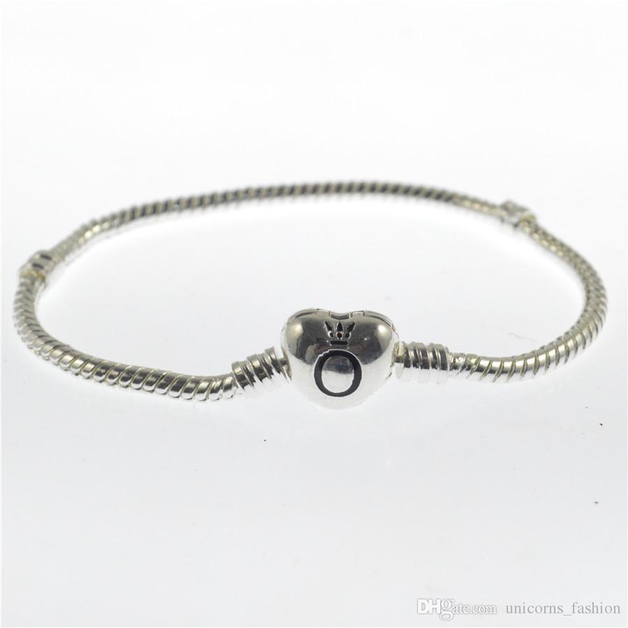 Пандора браслеты 3 мм змея цепи Подходят Пандора Шарм шарик браслет Браслет ювелирные изделия подарок для мужчин женщин 100 шт. CNY201