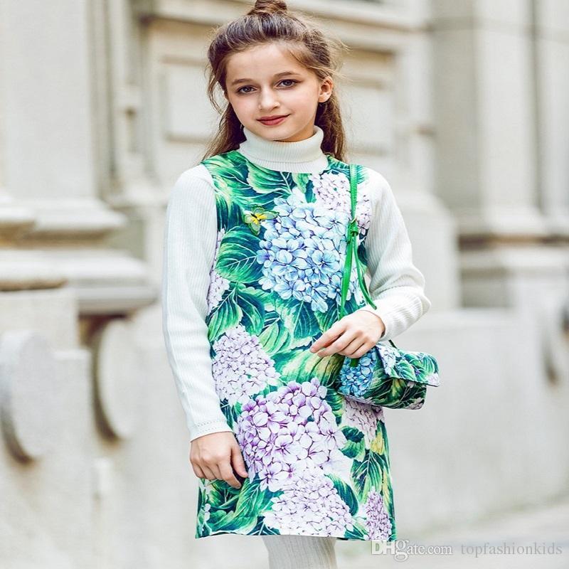 Girls Rose Flower Dress Summer 2018 Brand Hot Sale Children Princess ...