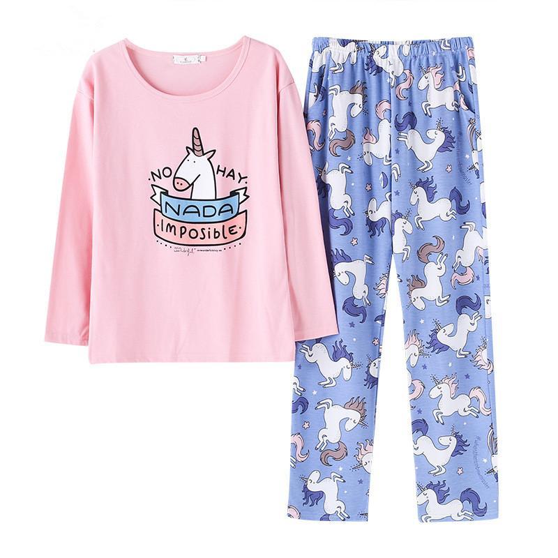 ab3b9c7b70572 Acheter Les Femmes Mignonnes Pyjama Définit Impression 2 Pièces Ensemble  Chemise Haut + Pantalon Femme Pyjama En Coton Plus La Taille Pyjama Costume  Pour ...
