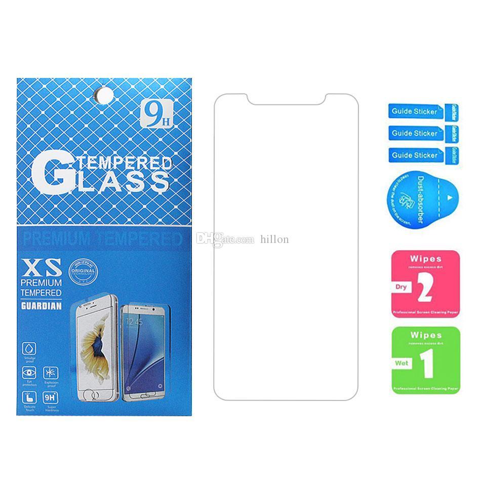 Para metro telefone vidro temperado para iphone 11 pro 7 8 plus x xr xs max protetor de tela 0.33mm filme protetor de dureza para lg styllo 3 4