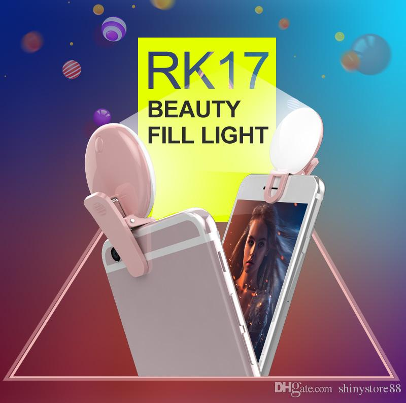 Novelty Cell Phone Smartpphone Selfie Flash Fill Light Phone Mini For iPhone IOS Android Adjustable Brightness LED Flash Fill Light 9 Leds
