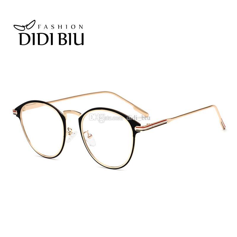 b69713b2689 2019 DIDI Italian Eyewear Brands Customized Lens Optical Prescription Glasses  Frames Women Men Fashion Oval Myopia Eyeglasses WL984 From Didi biu