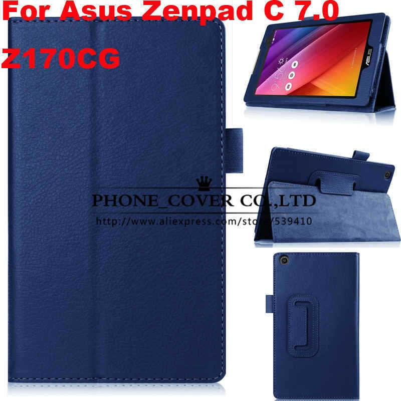 reputable site 57779 09284 Magnet Stand Litchi Flip Leather Case Cover For Asus Zenpad C 7.0 ...
