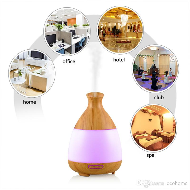 Aroma Essential Oil Diffuser Wood Grain Air Purifier Desktop Ultrasonic Humidifier Fragrance Scent Nebulizer Machine for Home Office 150ml