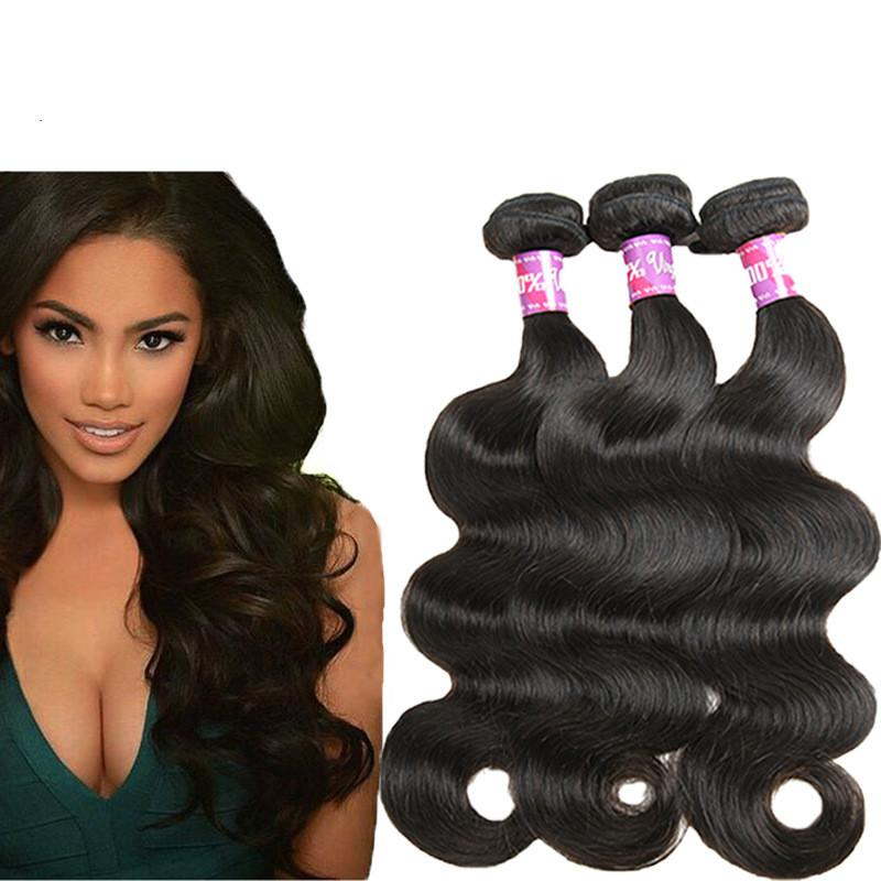 Grade 7a Indian Remy Human Hair Weaves Body Wave Human Hair Wefts