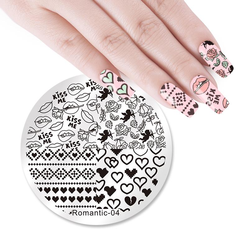 Nicole Diary Nail Art Image Plate Round Stamping Plate Valentine