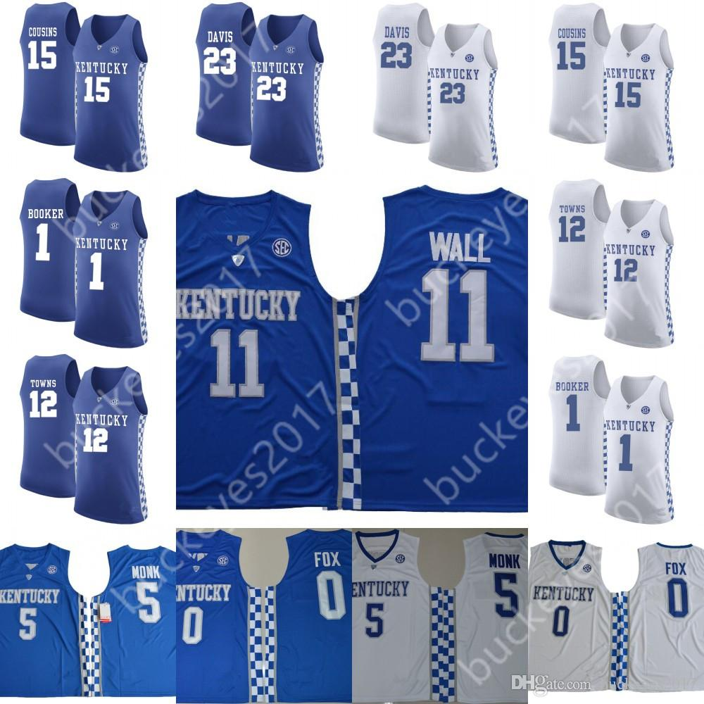 388413b3a16 NCAA Kentucky Wildcats  23 Anthony Davis 1 Devin Booker 15 DeMarcus ...