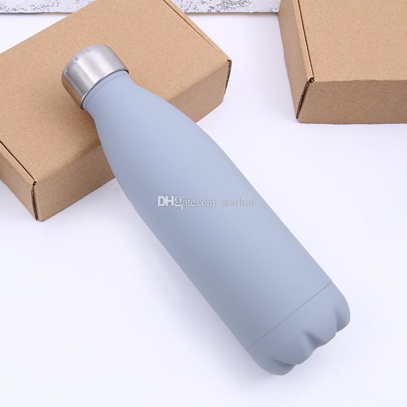 500 ML Copo De Água Caneca Isolamento Vacuum Bottle Sports 304 Aço Inoxidável Cola Bowling Forma Canecas de Viagem 8 Cores Livre DHL WX9-426
