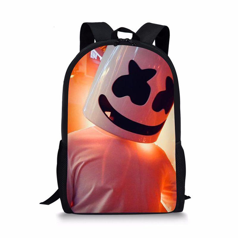 17ff01b3a451 Bag School Girl Marshmello School Bags Boys Girls Backpacks Supplies  Schoolbag Satchel Girls Children Book Bag Waterproof Backpack Kids Backpacks  From ...