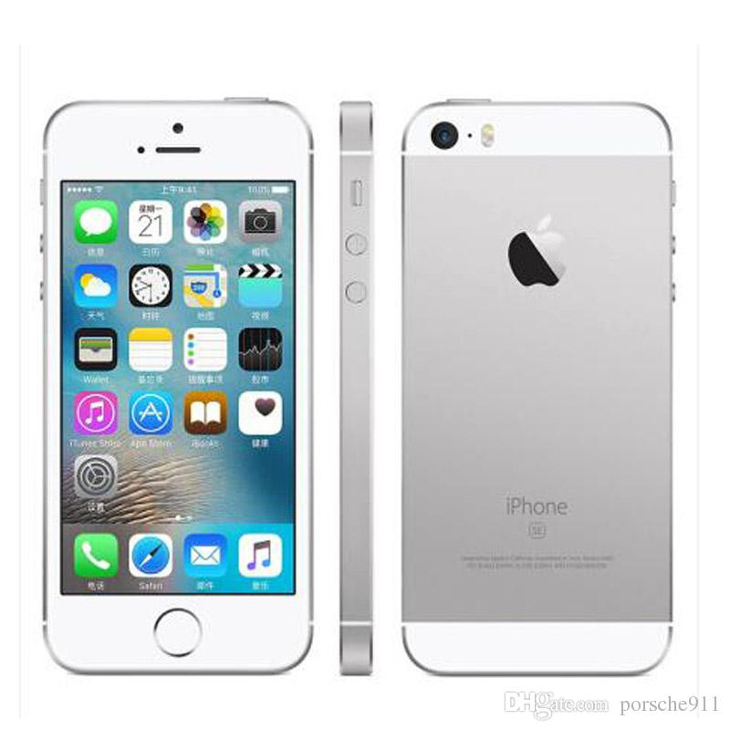 "Original Refurbished Apple iPhone SE 2GB RAM 16GB/64GB dual core LTE+WiFi+GPS 12MP Camera 4.0"" Black Silver Gold Fingerprint Smartphone"
