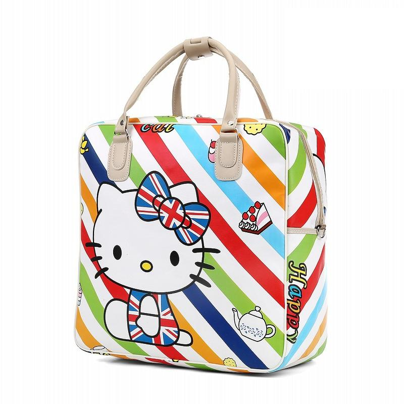 7266e356e New Hello Kitty Female Fashion Travel Bags Weekend Travel Large Tote Bags  High Capacity Luggage Bag Casual Crossbody Duffle Bag Briefcases Overnight  Bags ...