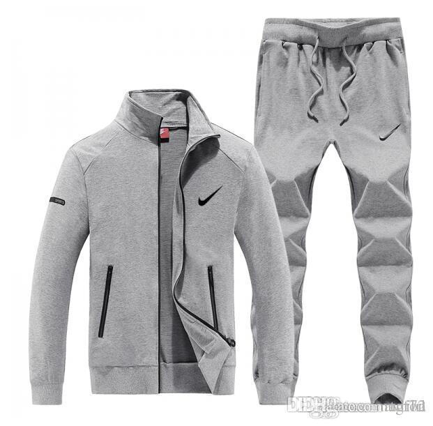 958fcff973 Compre Nike 2018 Designer De Marca Treino Primavera Outono Unisex Marca  Casual Sportswear Faixa Ternos De Alta Qualidade Hoodies Roupas Masculinas  De Tgf72
