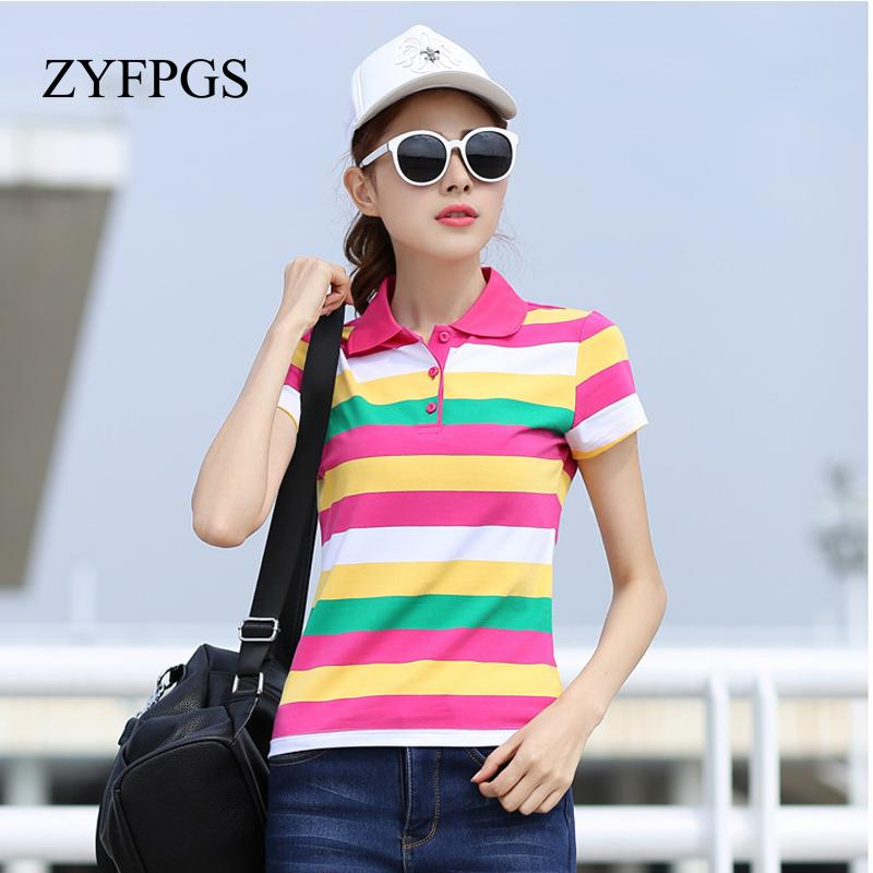207ba3bdc03b7 2019 ZYFPGS 2018 Fashion Summer Casual Women Shirts Striped Short Sleeve S Mujer  Shirt Slim Cotton Femme Plus Size New L0521 From Vikey08