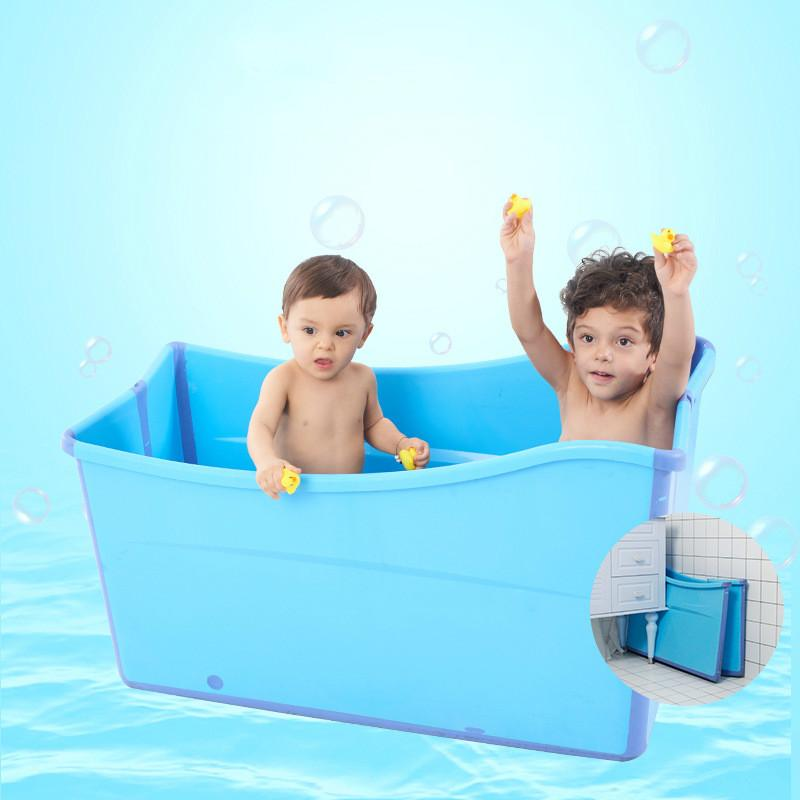 2018 Large Bathtub Twins Baths For Children Foldable Bathtub ...