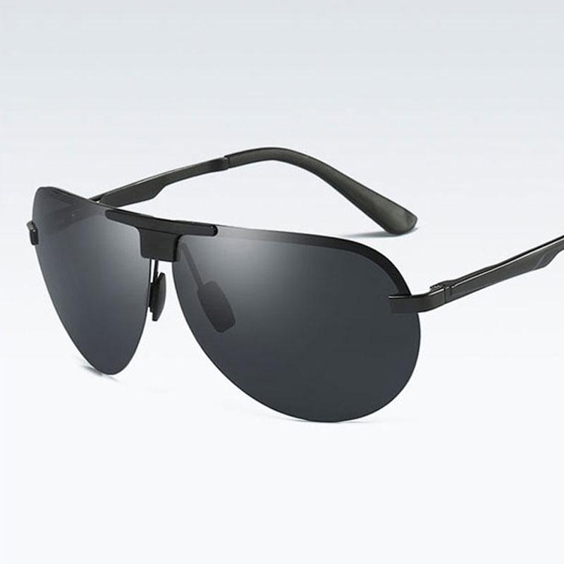 94d39b26541d6 Compre Chegada Nova Moda Óculos De Sol Marca Designer De Viagem Sapo Homens  Boa Qualidade Óculos Clássico Sem Aro Masculino Polarizada Óculos De  Condução ...