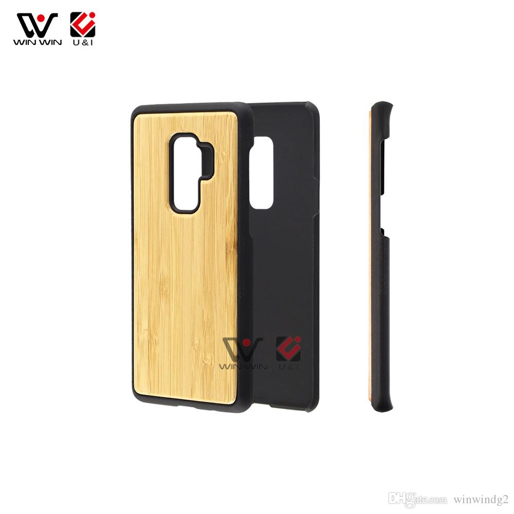 official photos b2755 0eb8c Wholesale Plain Natural Wood Phone Cover OEM ODM Premium Protective Phone  Case for Samsung S9 for S9 plus
