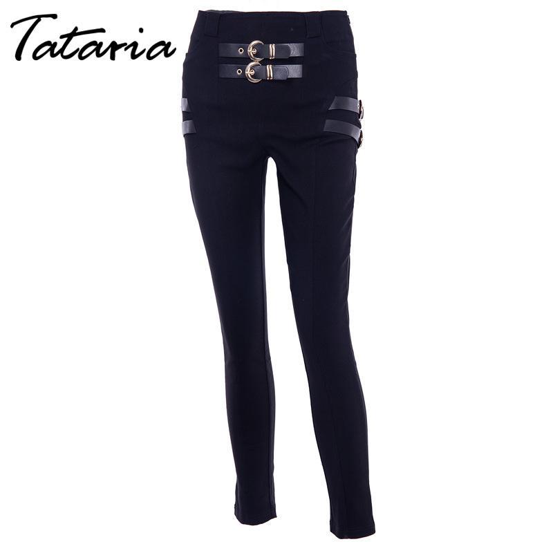3afe54c4d9 Compre Jeans Ajustados De Moda Para Mujer Con Cintura Alta Jeans Largos Para  Mujer Negro Streetwear De Cintura Alta Jean Slim Femme A  37.73 Del  Fabian05 ...