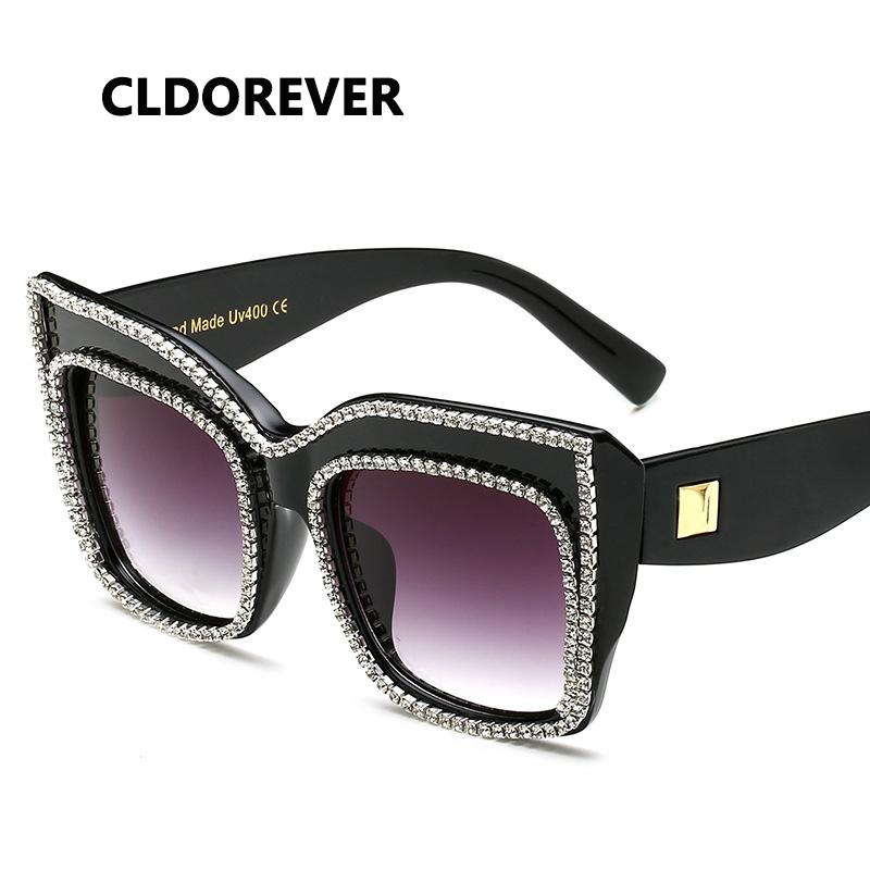 62492215e42 High Quality 2018 Rhinestone Sunglasses Women Luxury Brand Designer Cool Cat  Eye Sun Glasses For Woman Fashion Ladies Sunglass Cat Eye Sunglasses Round  ...