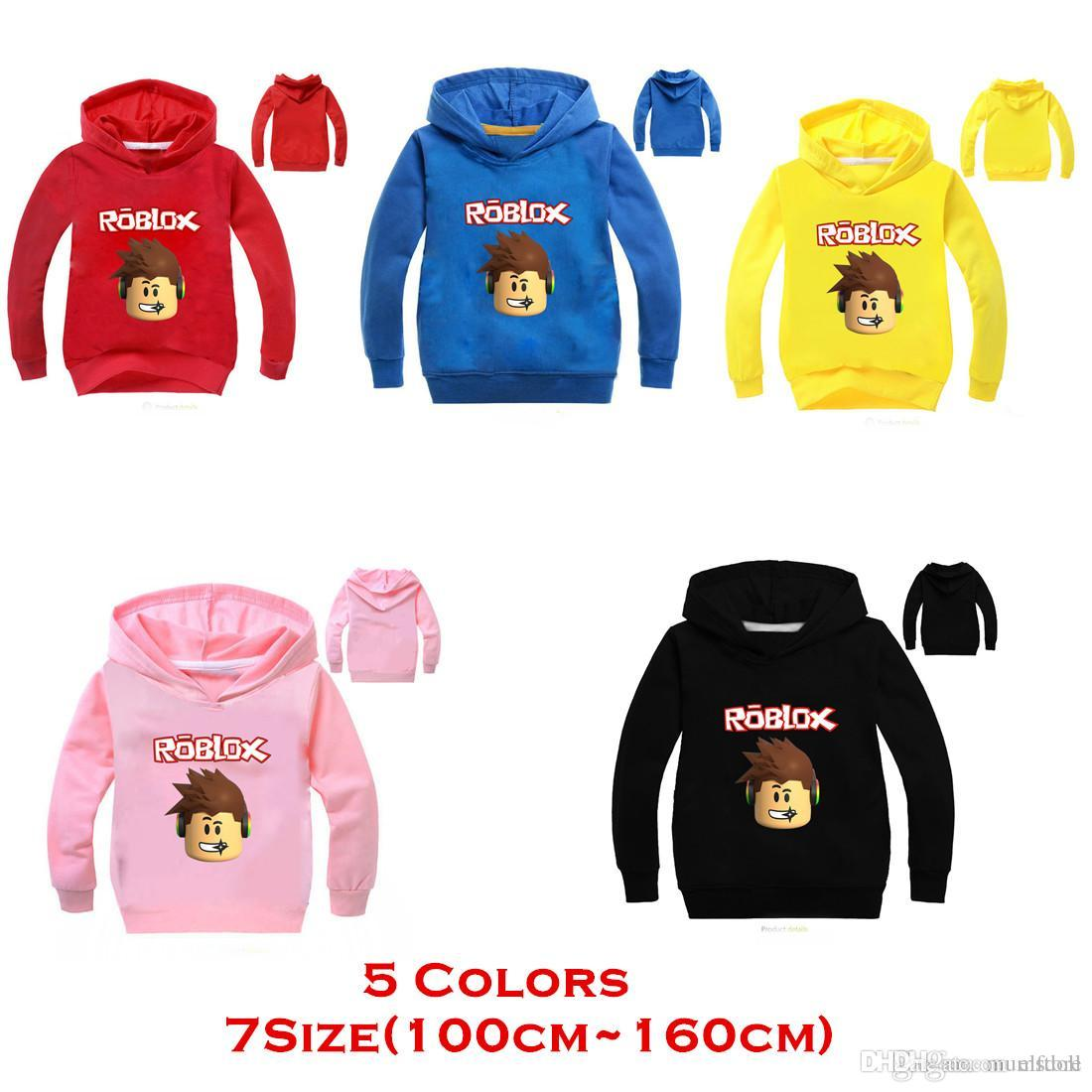 Kids Clothing Children Spring Clothing Roblox Long Sleeve Roblox T-shirts  Boys/Girls Mask Hoodies Sweatshirts Cotton Coats Free Shipping