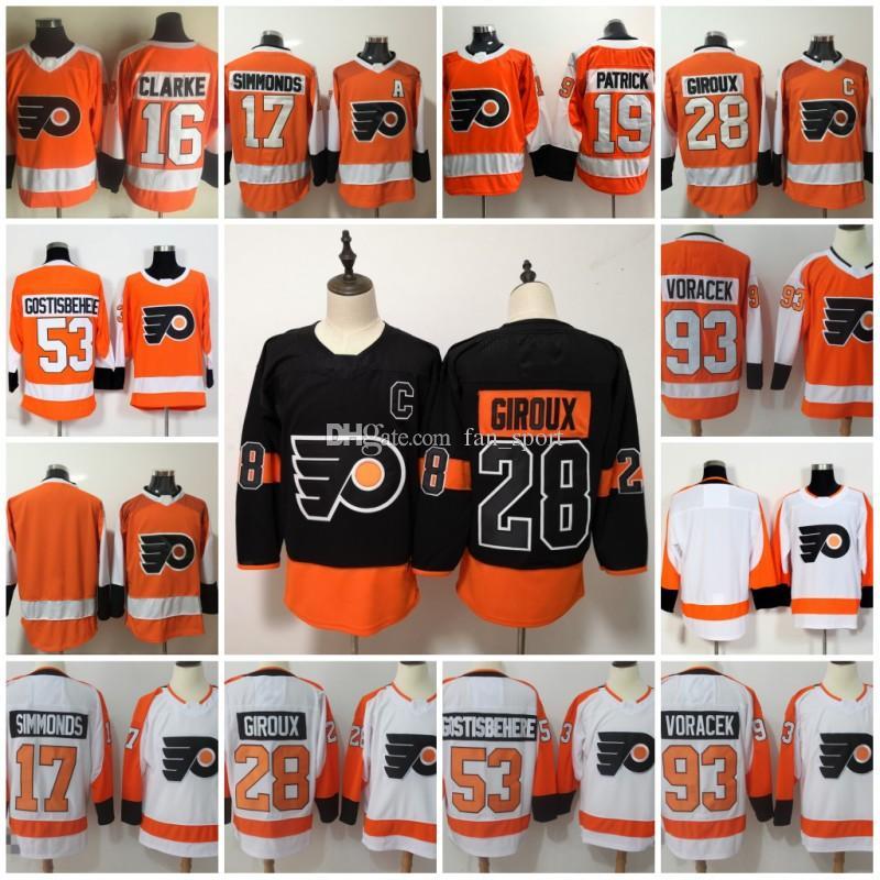 Mens 28 Claude Giroux Philadelphia Flyers Jersey 11 Travis Konecny ... 0f8075d4d