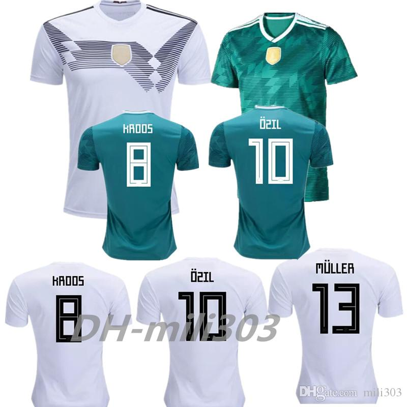 d0f46e13e ... national team white soccer 03744 b18b9  sale 2018 2018 germany home  jersey muller draxler ozil kroos soccer jerseys 18 19 world cup