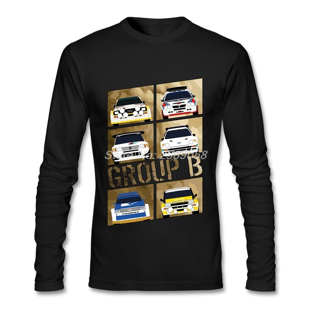 2017 Men t shirt Design Group B Cheap Graphic Rally Car T Shirt Father Gift Long Sleeve