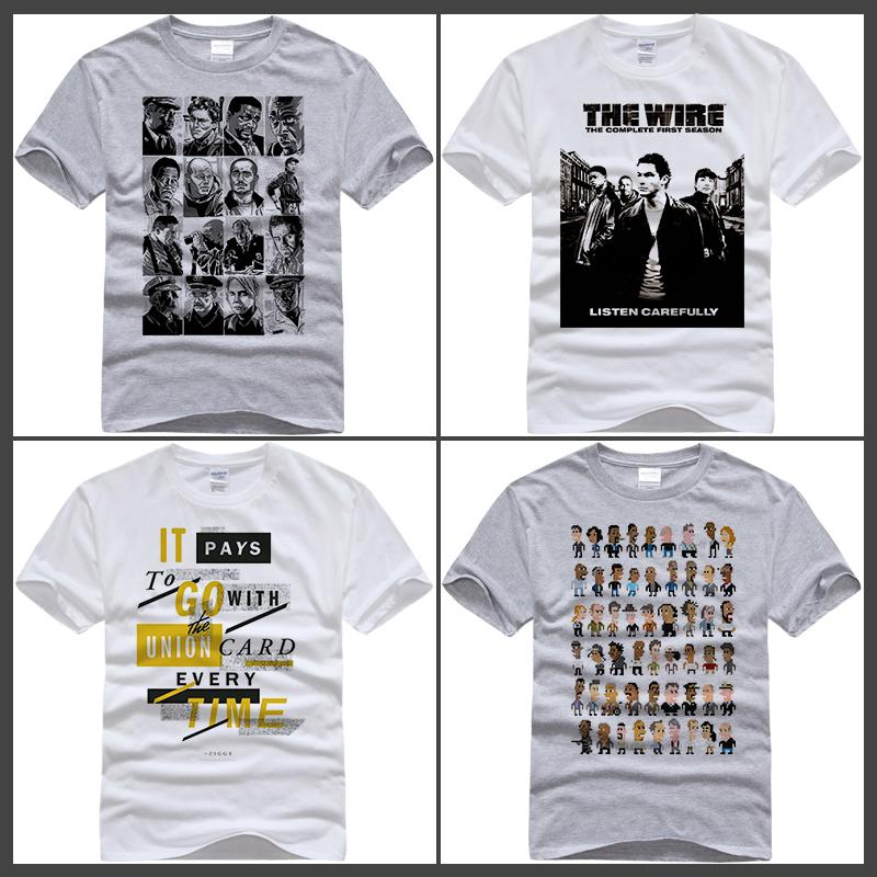 2017 T Shirt New Arrival Movie The Wire T Shirt Printing White ...