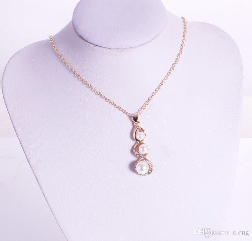 2018 Vereinigte Staaten acht Wörter Perlenkürbishalskettenklagediamant Halsketten-Mädchen Schmucksachen + freies Verschiffen