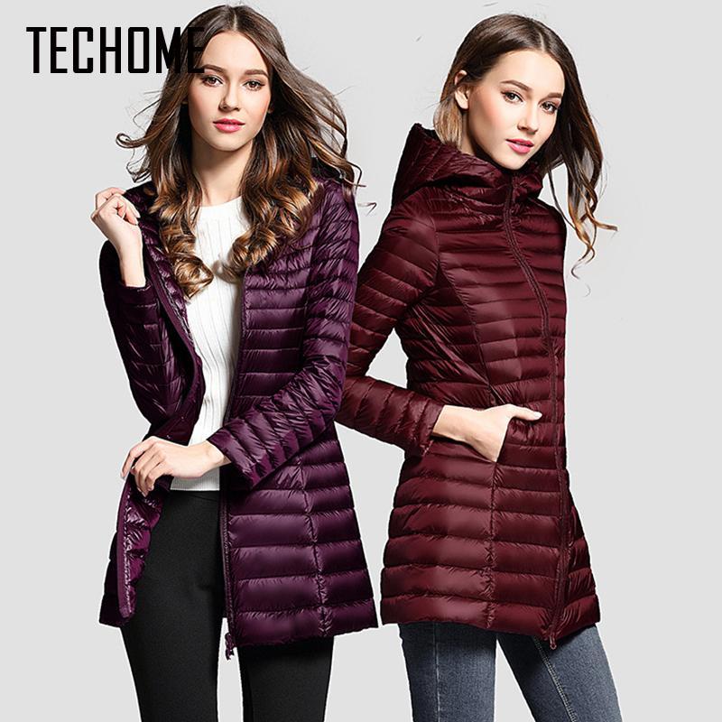 2a8313785 2019 2019 Long Down Jacket Women Winter Down Coats Ultra Light Down ...