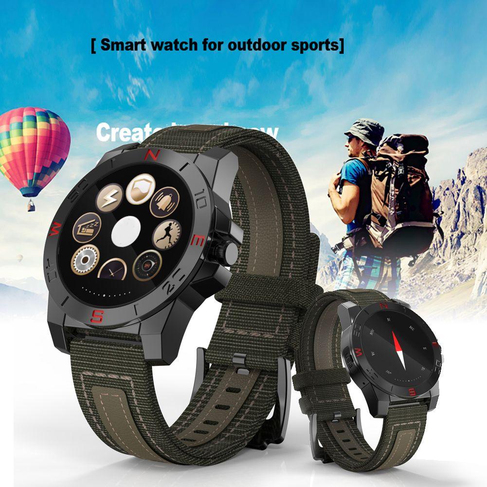 Bluetooth Smart Watch Orologio sportivo da esterno Smartwatch con cardiofrequenzimetro Bussola Termometro impermeabile IOS Android