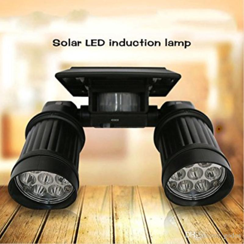 2018 solar security lightssolar motion sensor lights outdoor 14 led 2018 solar security lightssolar motion sensor lights outdoor 14 led dual head spotlight 180 adjustable waterproof solar wall lights for yard from godos aloadofball Choice Image
