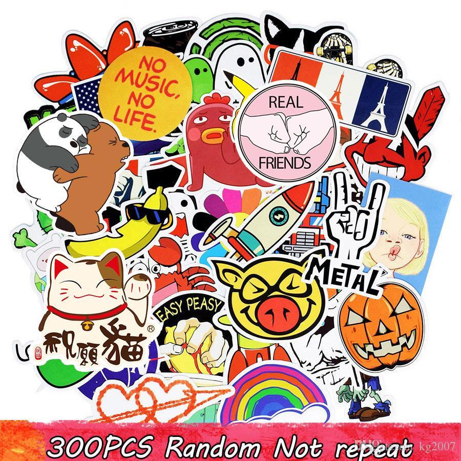 Diy pegatinas carteles pegatinas de pared para habitaciones de niños decoración para el hogar etiqueta engomada en el ordenador portátil monopatín equipaje tatuajes de pared etiqueta del coche 300 unids