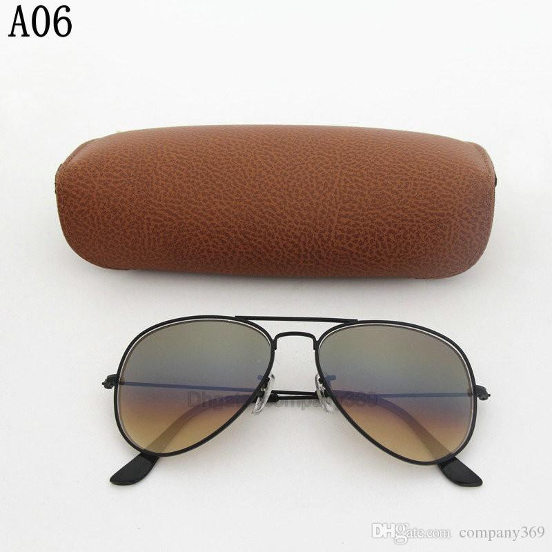 1 unids clásico venta caliente Vassl para mujer gradiente UV400 Gafas de sol Gafas de sol de oro marco de metal marrón 58 mm lente de cristal vienen caja
