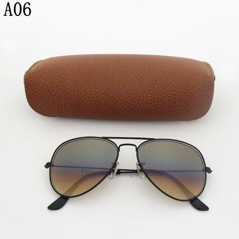 Classic Hot Sale Vassl Mens Womens Gradient UV400 Sunglasses Designer Sun Glasses Gold Metal Frame Brown 58mm Glass Lens come Box