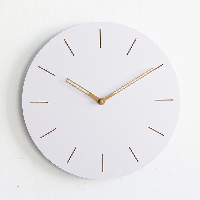 Compre 12 Pulgadas Redonda De Madera Digital Grande Reloj De Pared ...